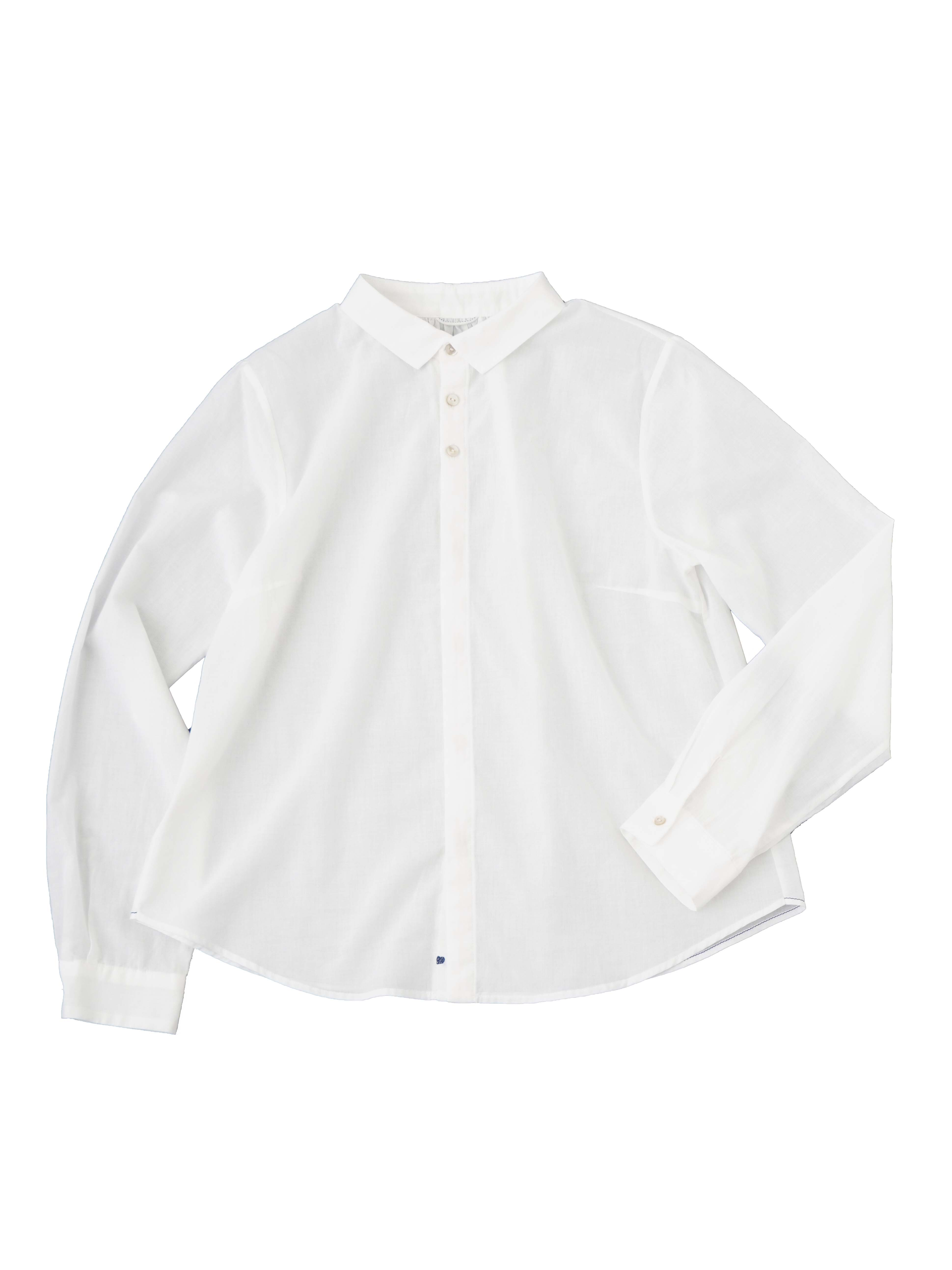 60/ローンパフィーウォッシュハート刺繍シャツ