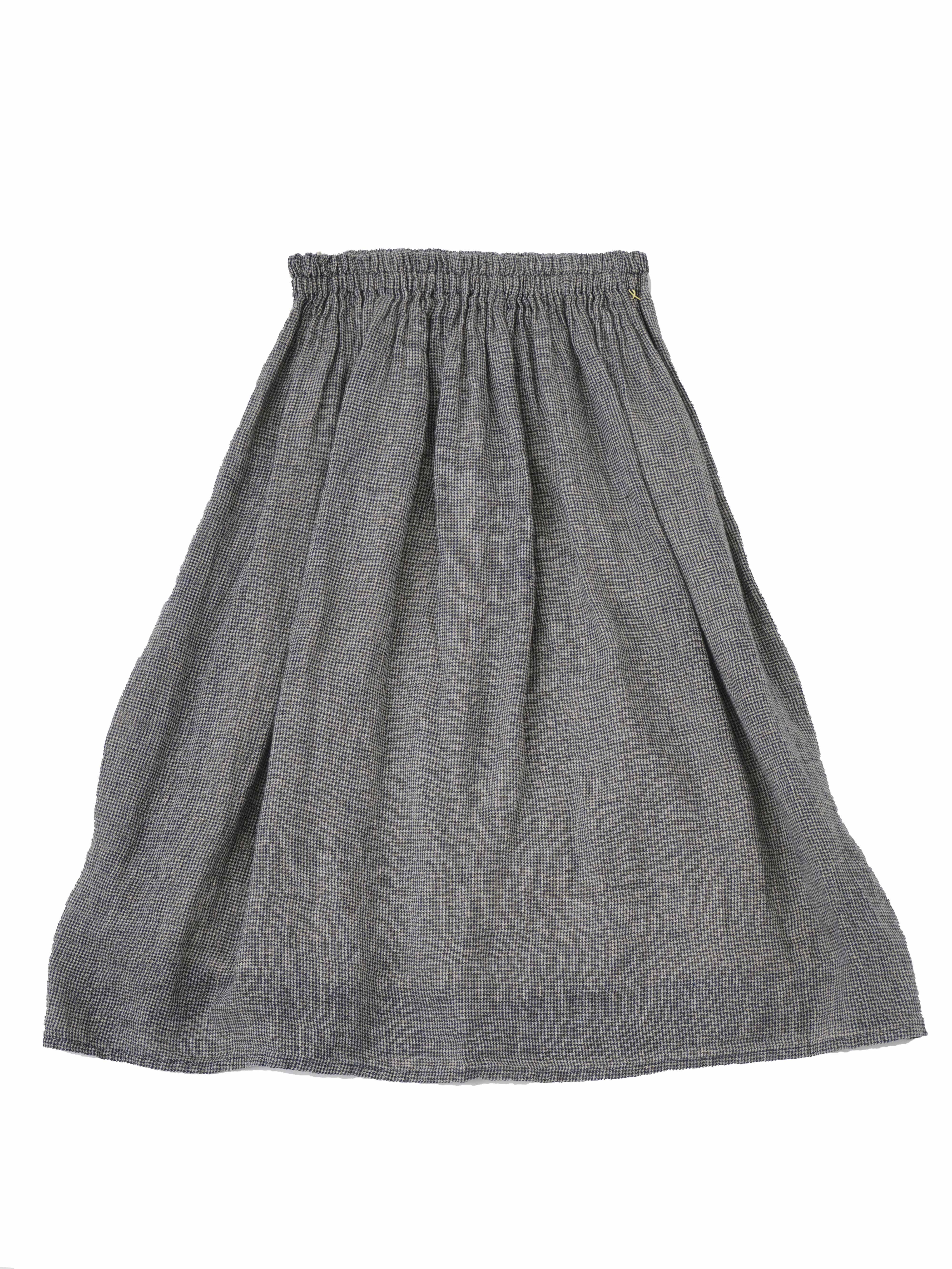 リネンガーゼチドリギャザースカート