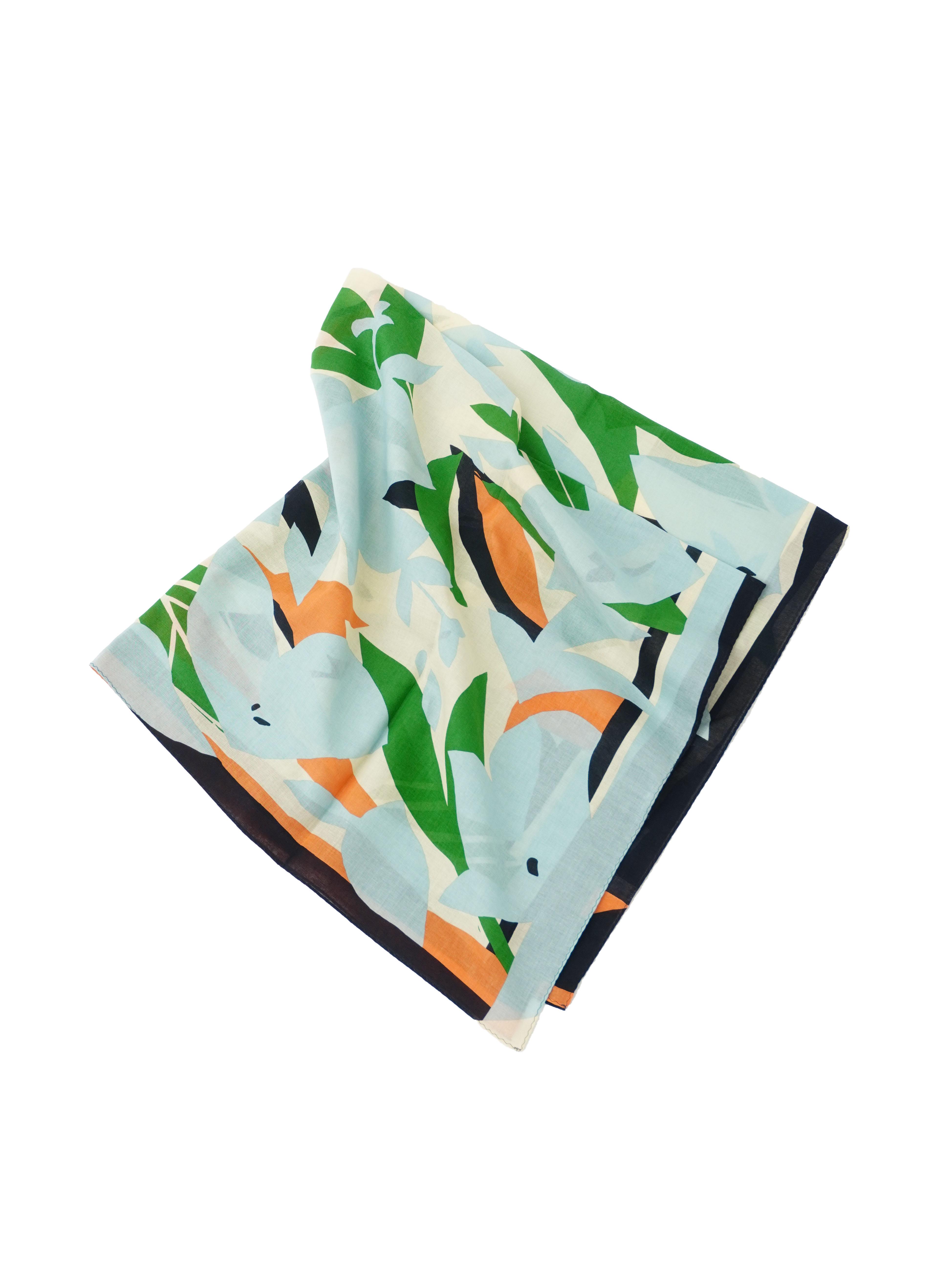 橘柄綿スカーフ