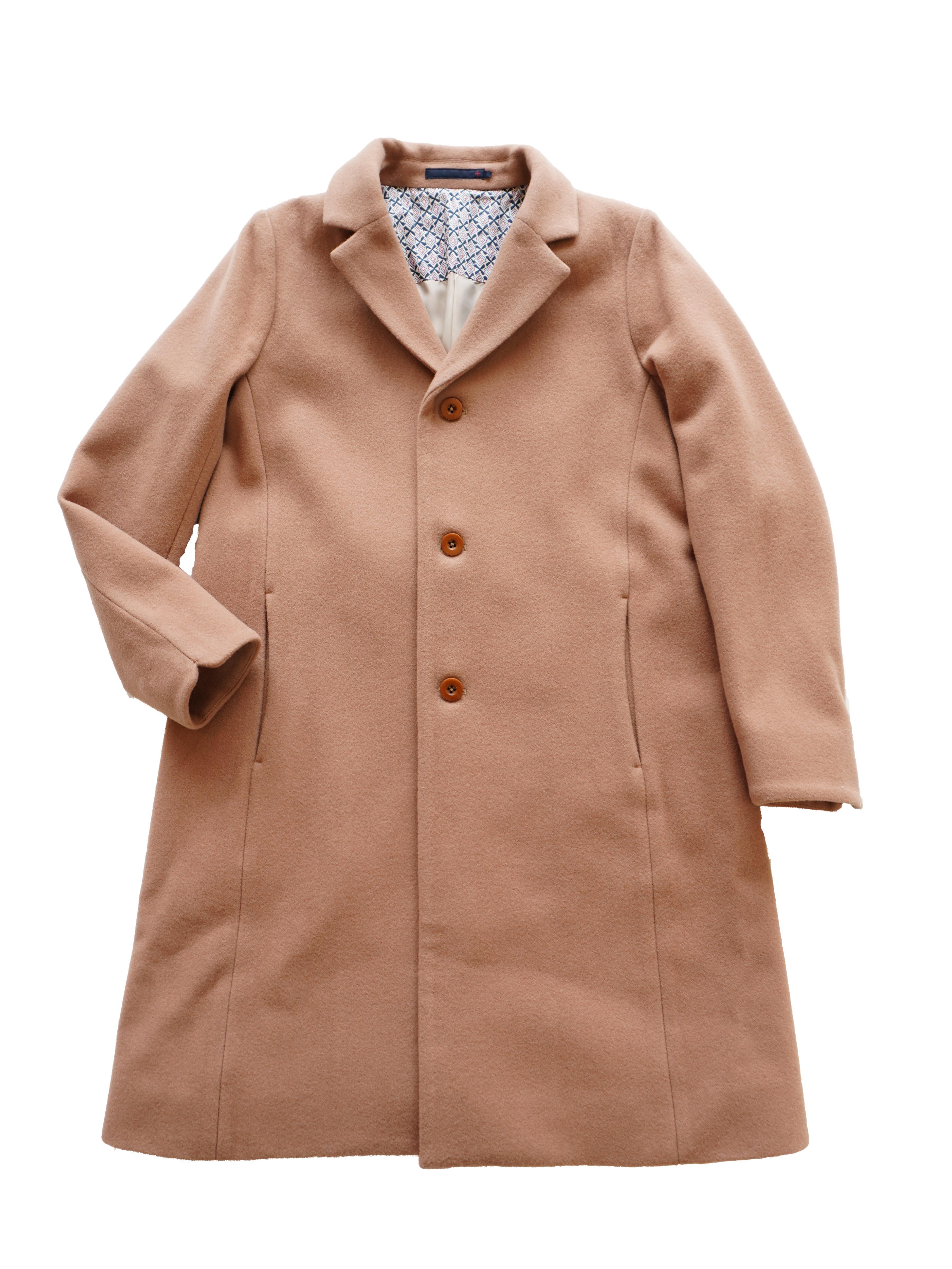 ニューイングランドラムテーラード衿コート