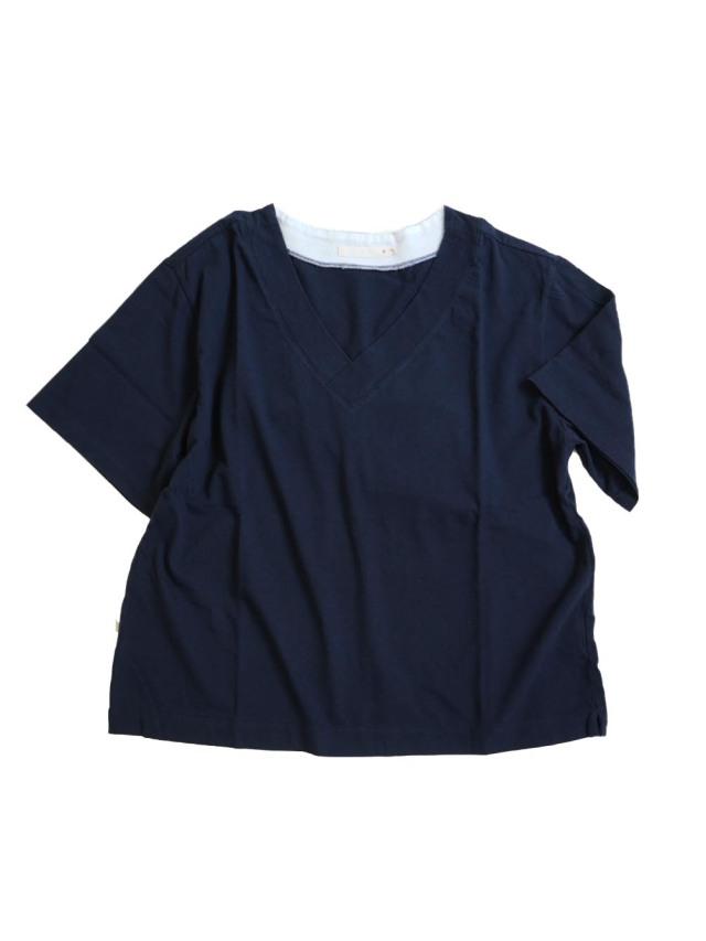 ソフト天竺VネックTシャツ