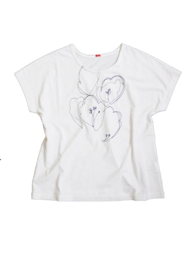 ラフィ天竺トトキ柄刺繍Tシャツ