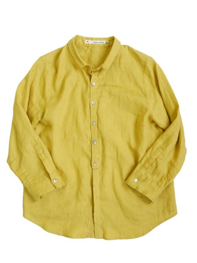 リネンちび衿シャツ