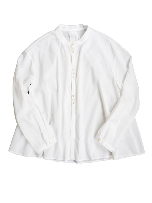 ローンバンドカラーフレアシャツ