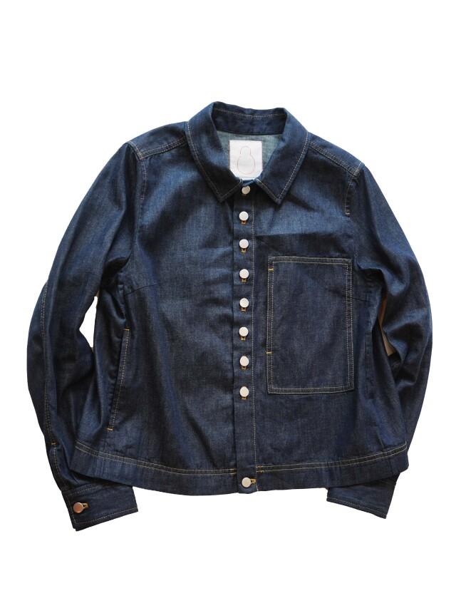ムラ糸ダンガリーワークジャケット