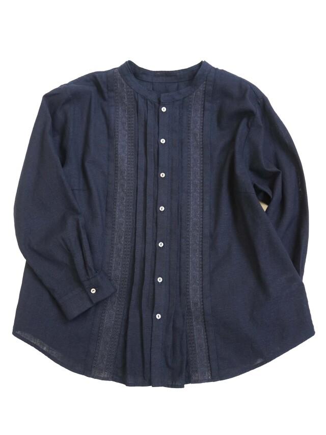 インディゴガーゼレースタックシャツ