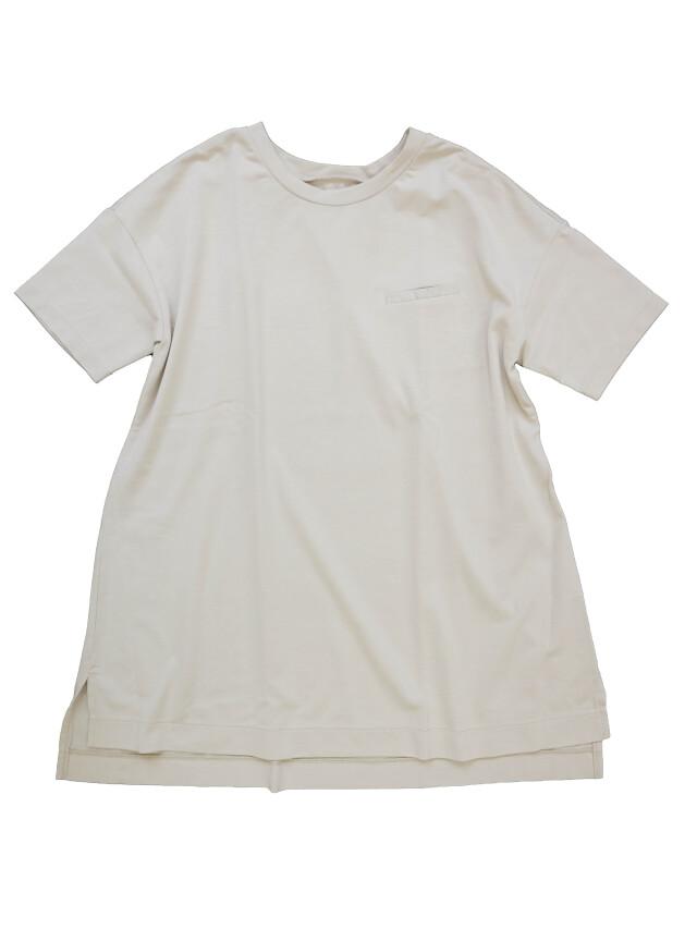 ハイゲージ度詰め天竺丈長Tシャツ