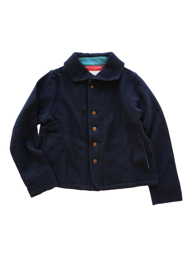 ウール圧縮天竺ウィング衿ジャケット