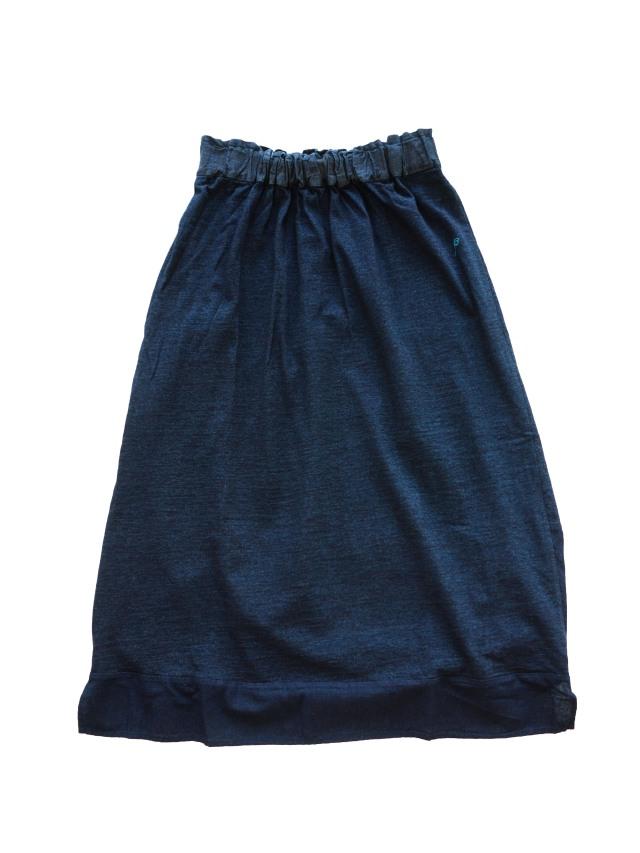 インディゴ天竺裾切り替えスカート