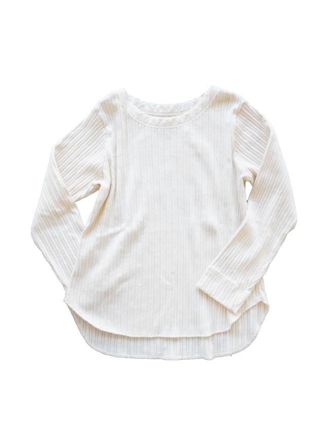 ラフィジャガードテレコ製品染め8分袖Tシャツ