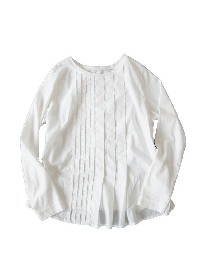 ローン×天竺アシンメトリータックTシャツ
