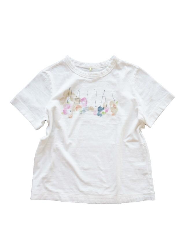 ラフィ天竺行く春柄プリントTシャツ