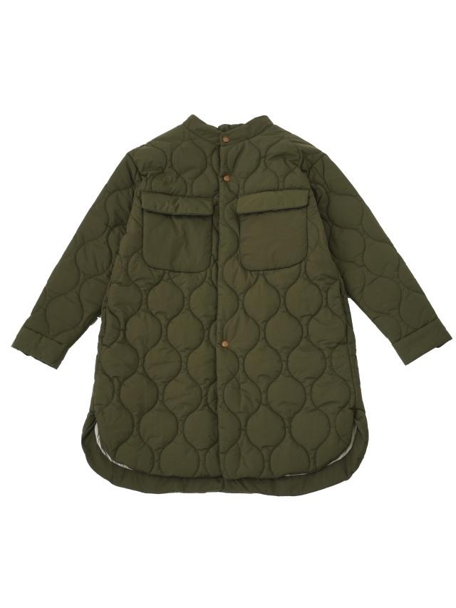 タイプライター中綿キルトスタンド襟コート