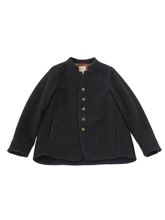 ローモンド杢起毛スタンド襟コート