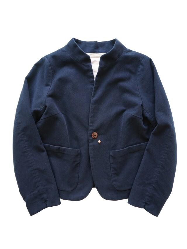 モールスキンふかふか起毛スタンド衿ジャケット