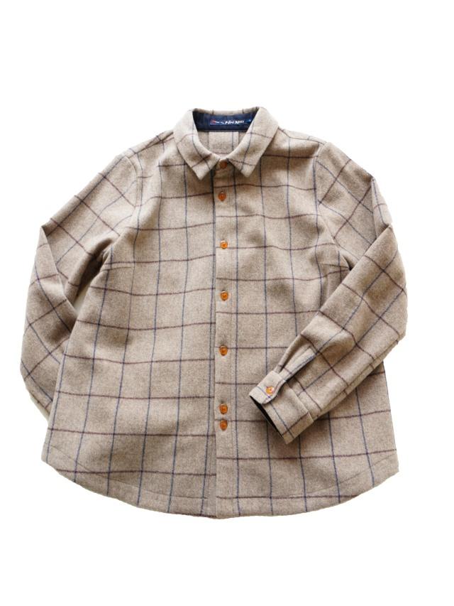 パウダーウールペンチェックオーバーシャツ
