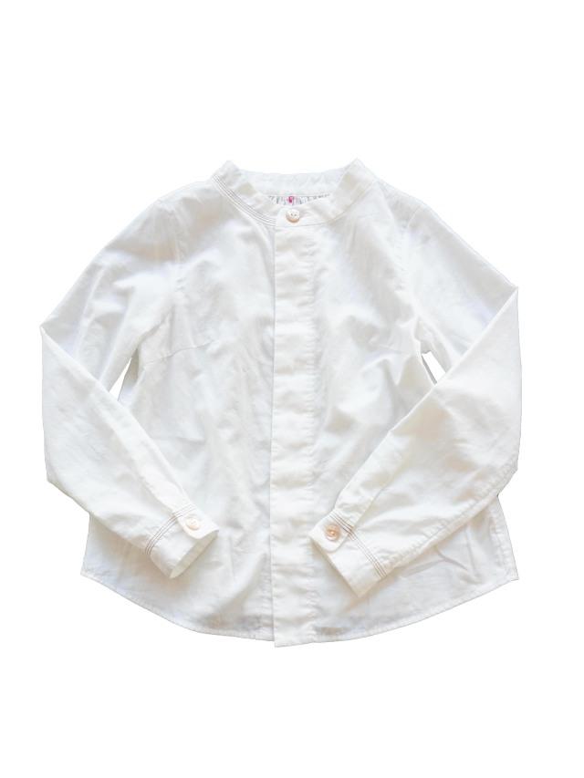 二重織スタンド衿シャツ