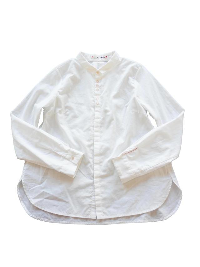 二重織ちび衿シャツ