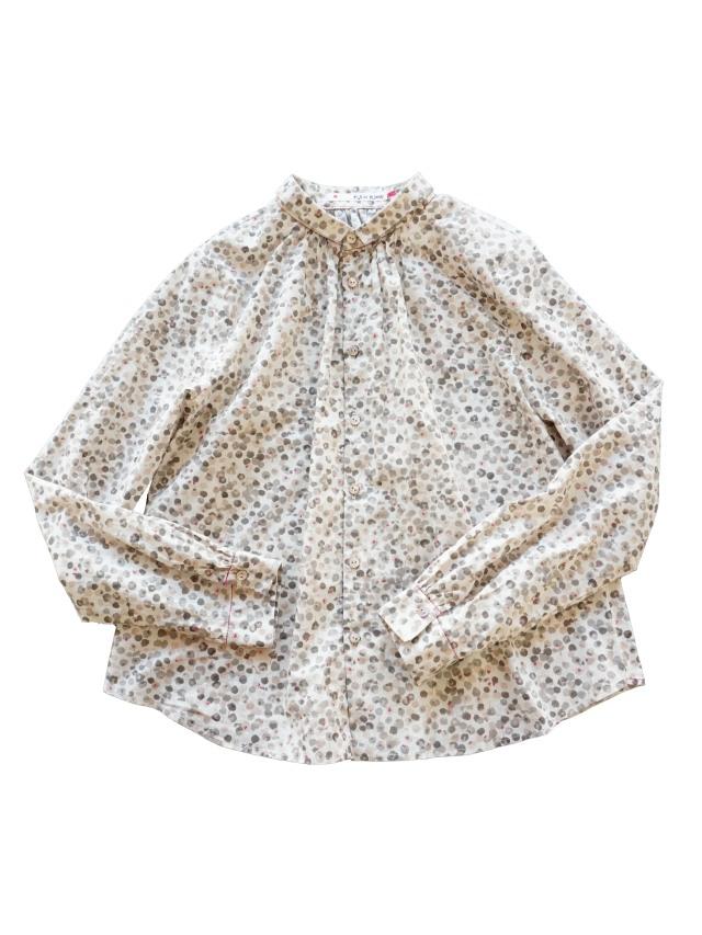 ローン花かたばみ柄シャツ