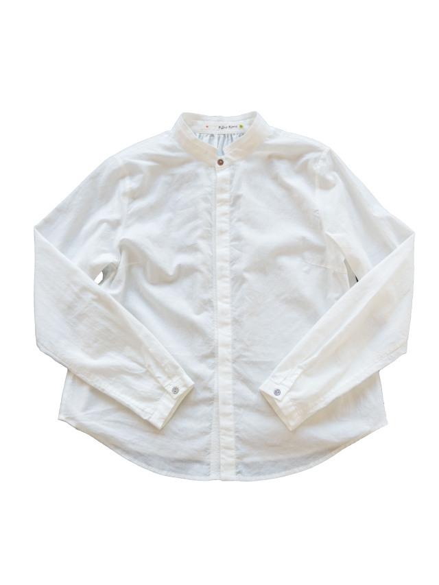 ローンスタンド衿シャツ