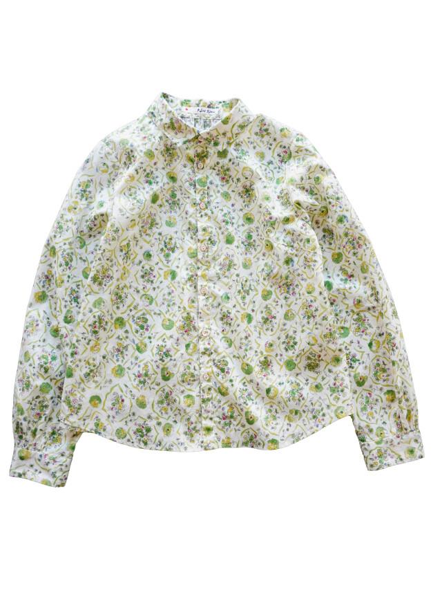 ローン玉菜柄ワイド衿シャツ