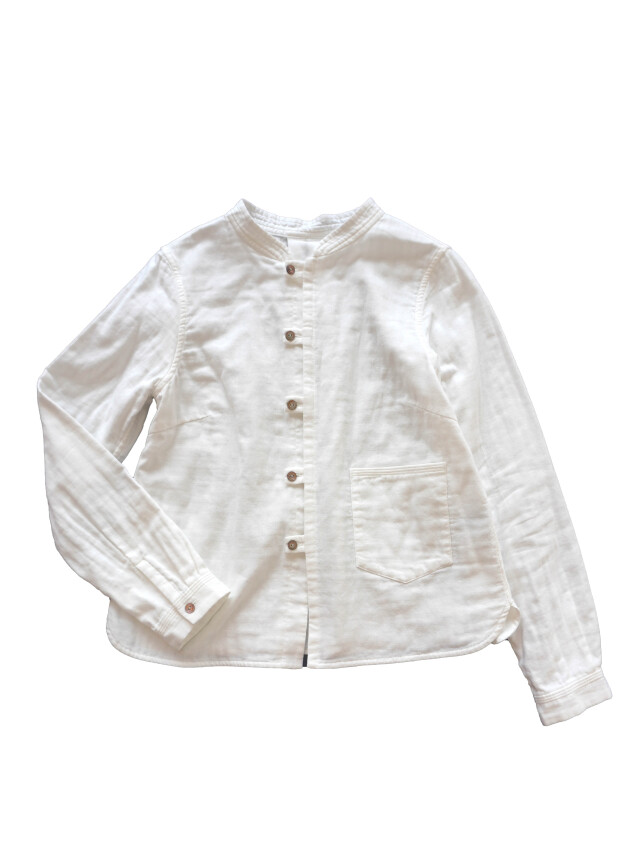 トリプルガーゼスタンド衿シャツ
