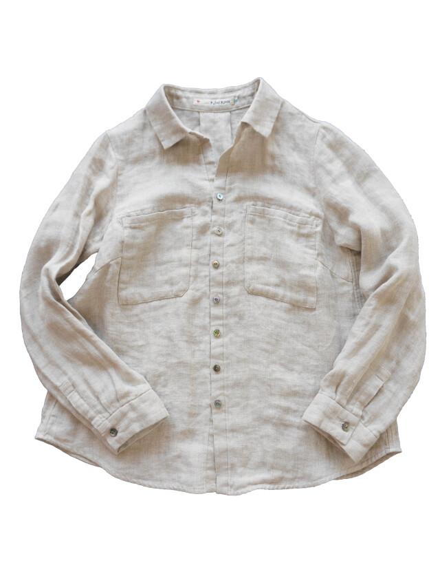 リネンWガーゼポケットシャツ
