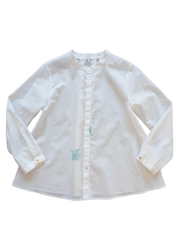 ローンパフィウォッシュ矢車草柄プリントシャツ