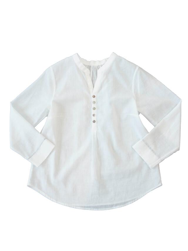 PP38.5白ガーゼスタンド衿シャツ