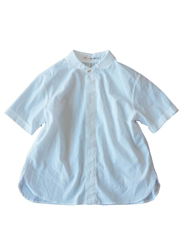 ローンパフィウォッシュウィング衿シャツ