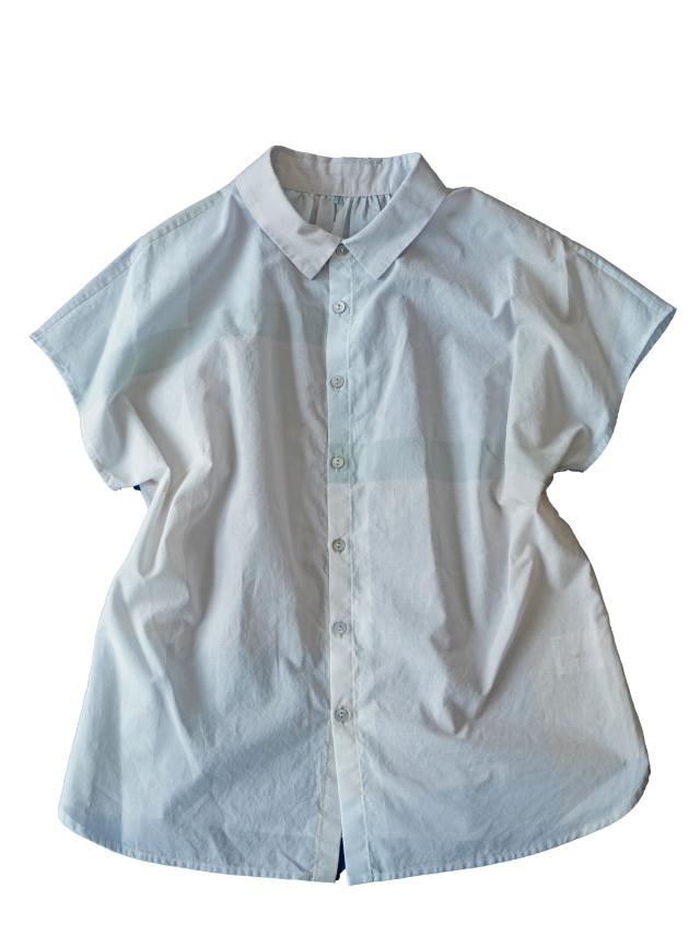 晒ブロックチェックシャツ