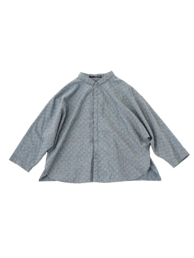 60/-インディゴJQ藍更紗柄ドルマンシャツ