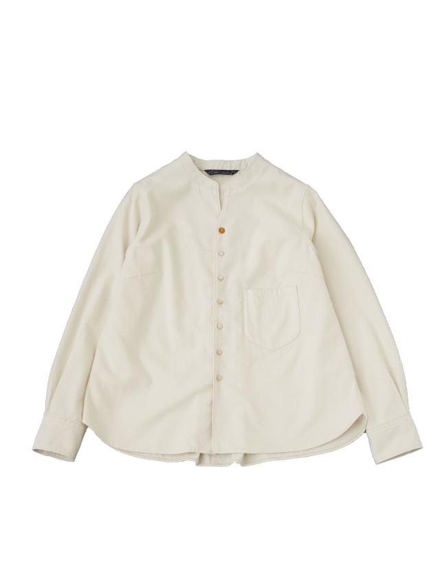 コットンフランネルスタンド襟ワークシャツ