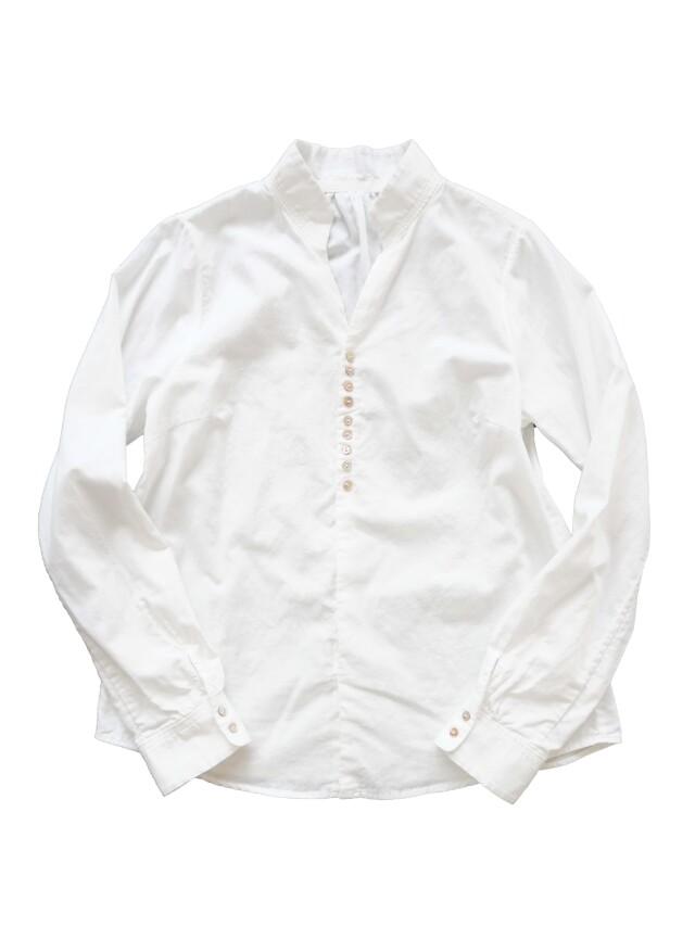 ローンパフィーウォッシュ二重織スタンド衿シャツ