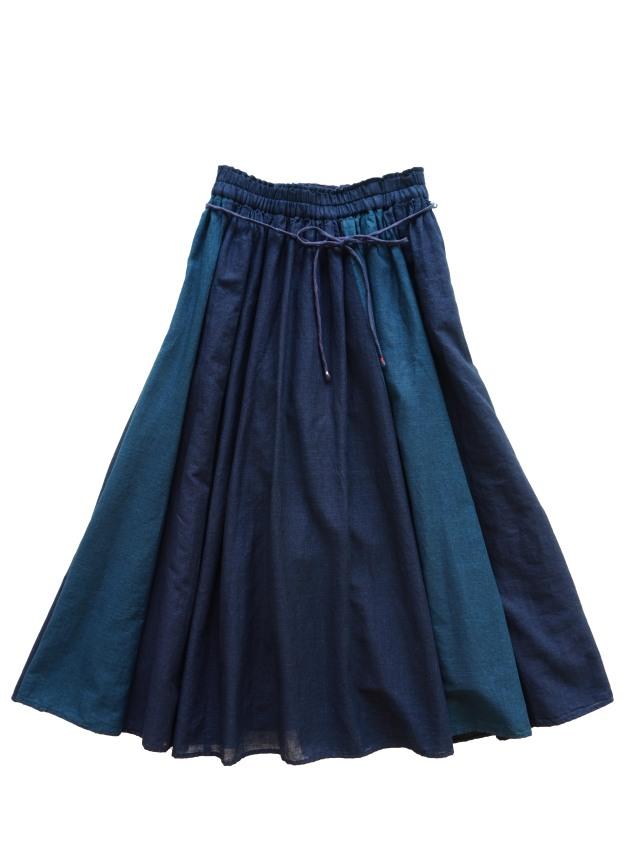 PP38.5インディゴガーゼギャザースカート