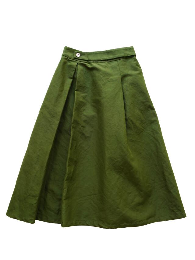 コットンラミーツイルフレアースカート