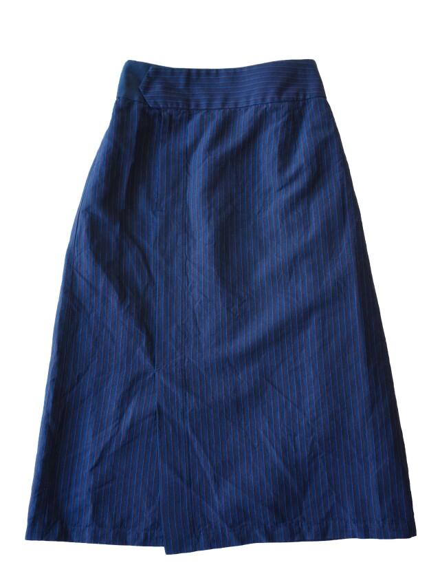 コットンリネンポプリンストライプラップ風スカート
