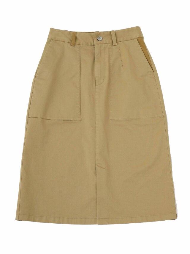 コンパクトチノストレッチセミタイトスカート
