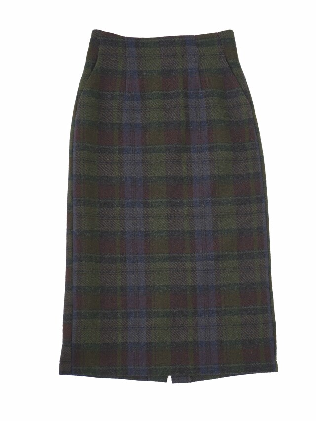 シェットランドチェックタイトスカート