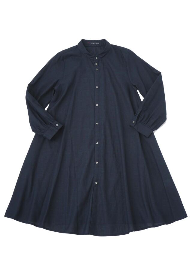 PP38.5/インディゴガーゼちびウィング襟チュニックシャツ