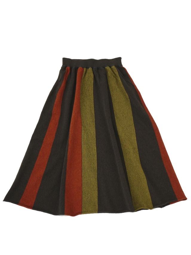 12Gメリノウール冬色ニットフレアースカート