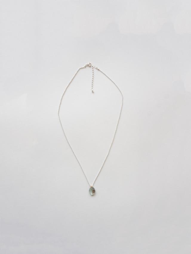 シルバーチェーン天然石ネックレス
