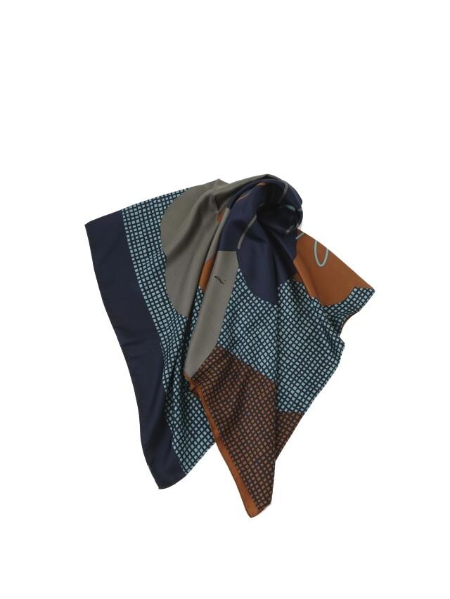 野紺菊柄シルクビッグスカーフ