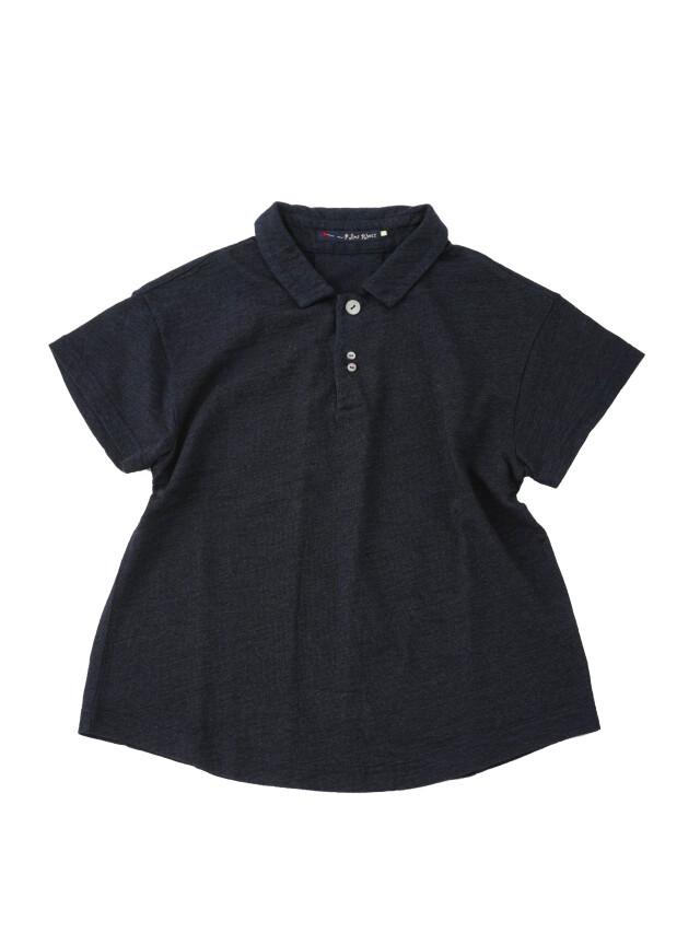 インディゴ天竺ポロシャツ