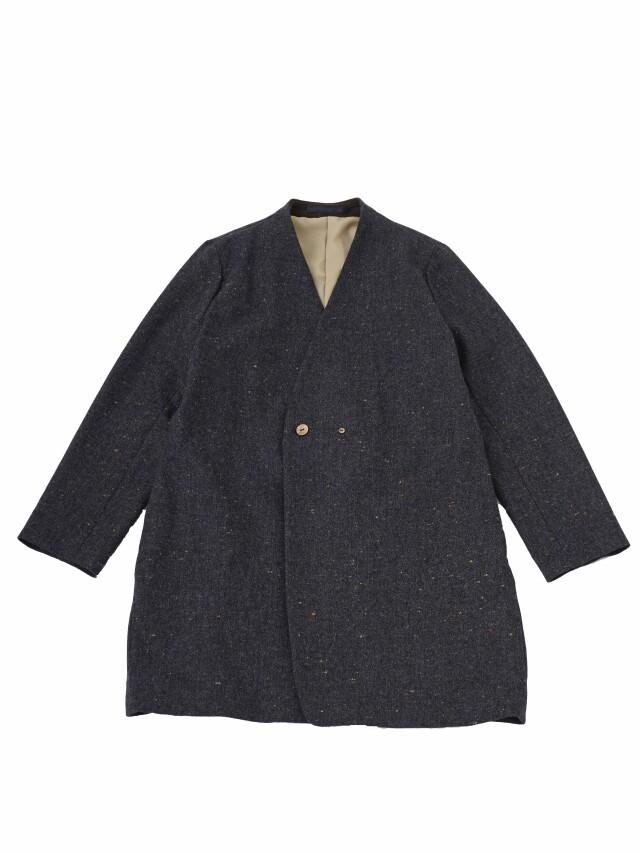 カラーネップツィードミドル丈コート