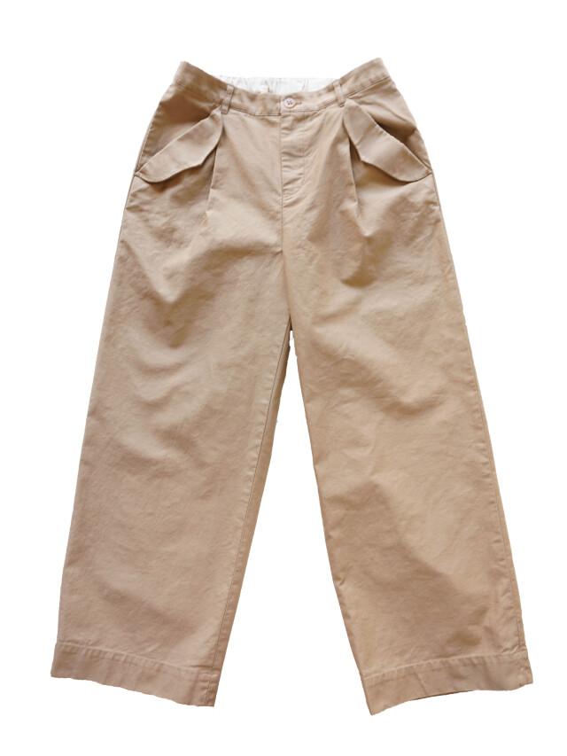 ミリタリーモールスキンフラップポケットパンツ