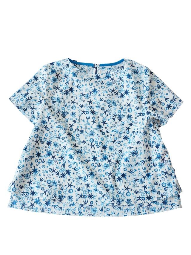 ローン小花更紗柄半袖シャツ