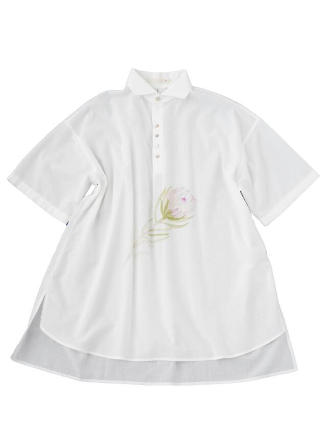 60/ローンパフィーウォッシュプロテア柄プリントチュニックシャツ