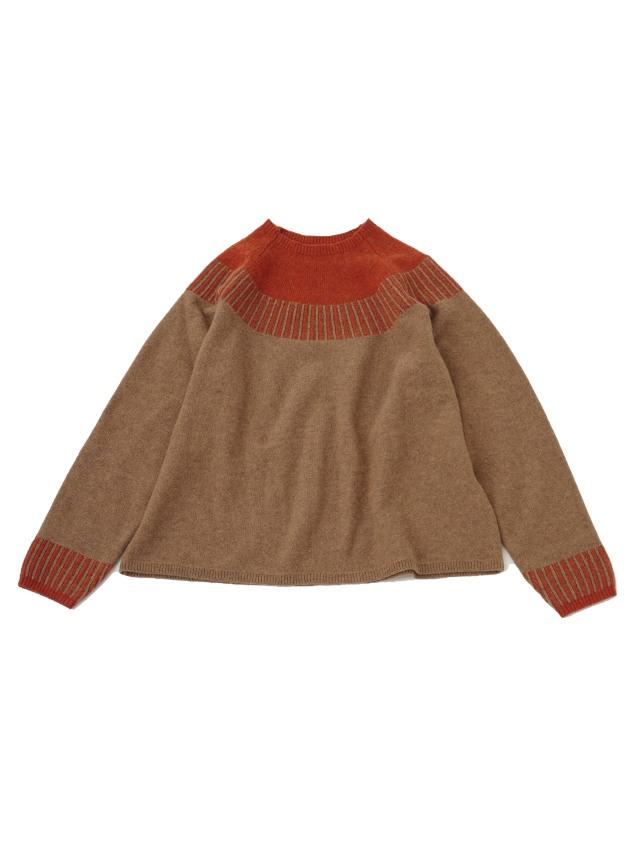 7Gメリノウール配色セーター