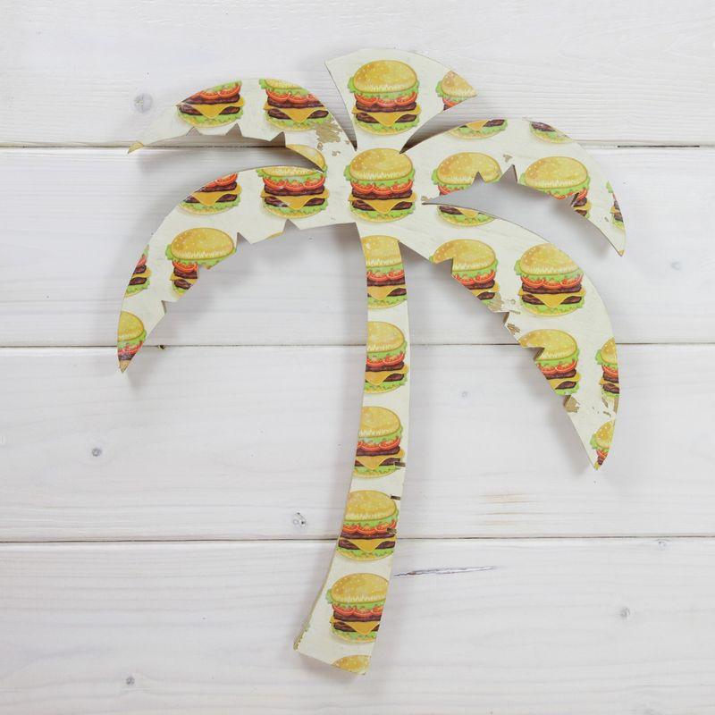 seashoreinc/シーショアインク/木製/ウッドプレート/ヤシの木/ハンバーガー/ビーチハウス/パームシーズン/ 沖縄/通販 /ハンドメイド